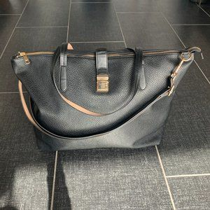 H&M Large Black Shopper with Gold Buckle
